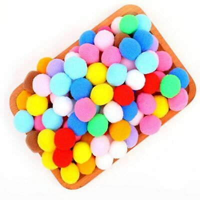 New 30mm Mini Fluffy Soft Pom Poms Balls Furball Handmade DIY Crafts 10Pcs/Lot