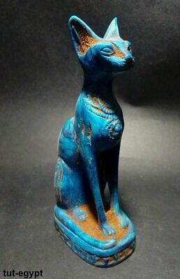 Very RARE ANCIENT EGYPTIAN ANTIQUE BASTET AMULET CAT( 1456-1245 BC)