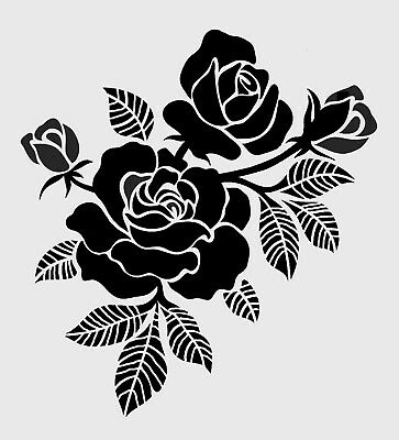 high detail airbrush stencil roses 5 FREE UK POSTAGE
