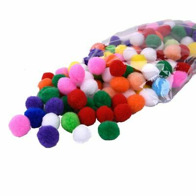 DIY Mini Fluffy Soft 25mm Pom Poms Ball Handmade For Sewing Supplies 100Pcs/Lot