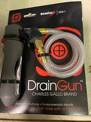New DrainGun DiversiTech GG-1 Condensate A/C Drain Lines Cleaning Charles Gallo