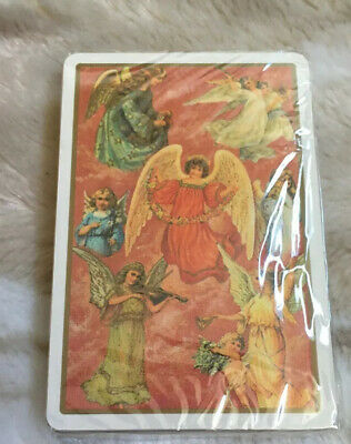 Sealed OLD TIME CHRISTMAS ANGELS Playing Cards 54 Different Angel Scenes Italy