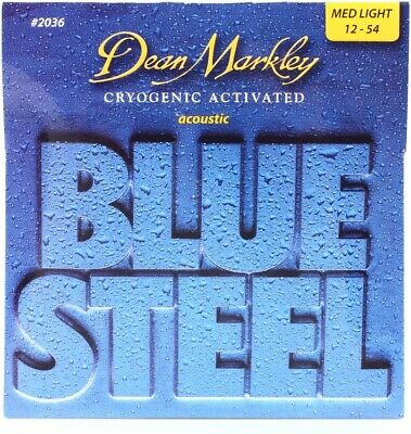 Dean Markley 3-Pack of 2038 Blue Steel Acoustic Guitar Strings 13-56 Three Sets