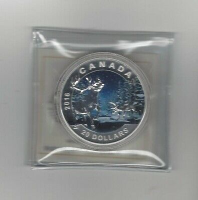 2016 , Canada, Geometry in Art, The Caribou Silver $20 Dollar Coin