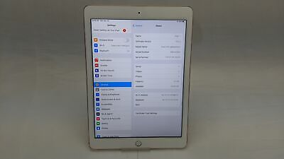 "Apple iPad 6th Gen 2018 A1893, 32GB, Wi-Fi, 9.7"", Gold, Working/No Touch ID"