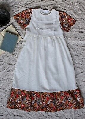 70s 6-7 Prairie Maxi Dress Kids VTG Bohemian Festival William Morris Frill Party