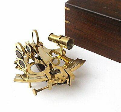Vintage Ship History Sextant with Hardwood Box Antique Marine Collectible, 6