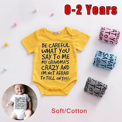 Unisex Outfits Clothes Letter Print Bodysuit Boys Girls Baby Romper Playsuit