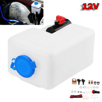 Universal Car Window Windshield Washer Reservoir Pump Bottle Cleaning Kit 12V