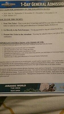 Six general admission 1-Day, Universal Studios Hollywood Tickets