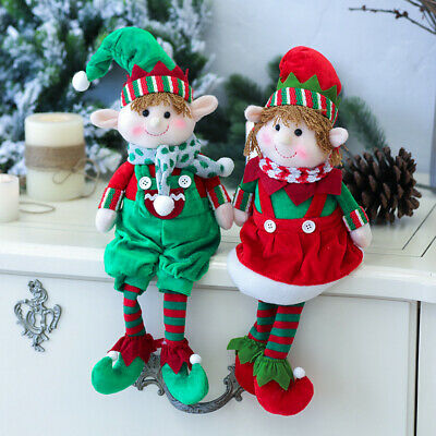 US Christmas Elf Doll Decoration Xmas Party Ornament Home Ornaments Gift Toys