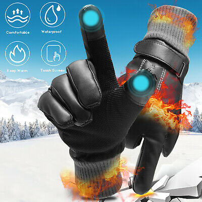-30℃ Waterproof Winter Warm Ski Gloves Touch Screen Snow Mittens Snowboard Men