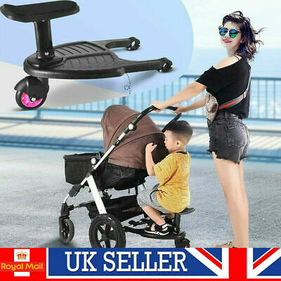 Buggy Stroller Step Board Stand Child Kids Toddler Wheeled Pushchair Connector