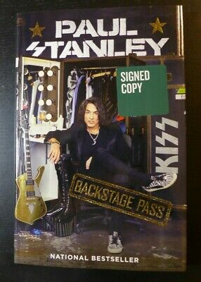 """Paul Stanley/Kiss🎸Autographed🎸""""Backstage Pass"""" New Signed Book 2019"""