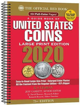 2020 Official Red Book US Coins 73rd Edition Large Print Price Guide - Whitman