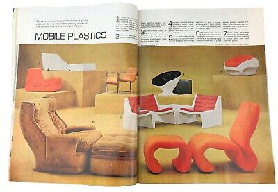 Better Homes & Gardens July 1970 Panton Style Mod 1970s Furniture Interior