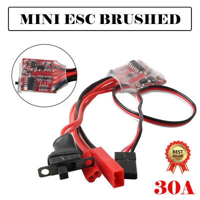 30A Mini ESC Brushed Brush Speed Controller RC Car Truck Boat Reverse 1/16 1/18
