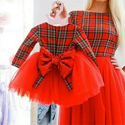 UK 2PCS Toddler Kid Baby Girl Pageant Plaid Coat+Tutu Dress Party Outfit Clothes