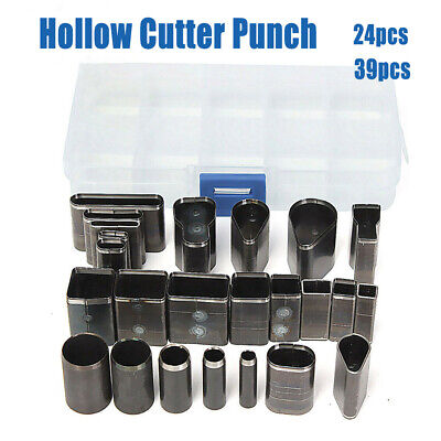 24/39 pcs Style Hole Hollow Cutter Punch Set For Handmade Leather Craft DIY Tool
