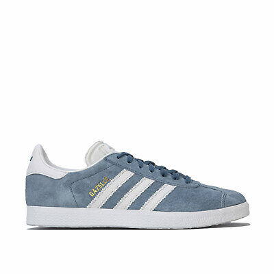 Mens adidas Originals Gazelle Trainers In Blue- Suede Leather Upper