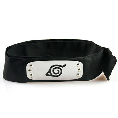 Ninja Headband Naruto Kakashi Sasuke Leaf Village Cosplay Anime Headband Black