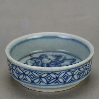 China old hand-carved porcelain Blue & white flower pattern Kung fu tea cup