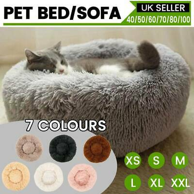 Pet Dog Cat Calming Bed Comfy Large Mat Puppy Washable Fluffy Cushion UK Seller