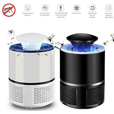 Silent Electric Insect Trap Zapper Mosquito Killer Lamp USB Pest Repeller