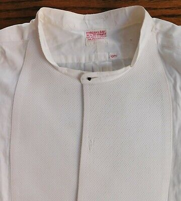 Starched Marcella tunic shirt size 15 Morgan & Ball vintage 1930s dress wear