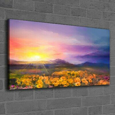SUNRISE GOLDEN FIELD COTTAGE MODERN PRINT CANVAS WALL ART PICTURE LARGE AB704 X