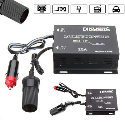 24V-12V 20A Car Power Transformer Supply Voltage Converter Inverter Charger UK