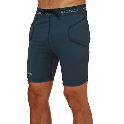Forcefield Slam Body Armour Protective Shorts - Blue All Sizes