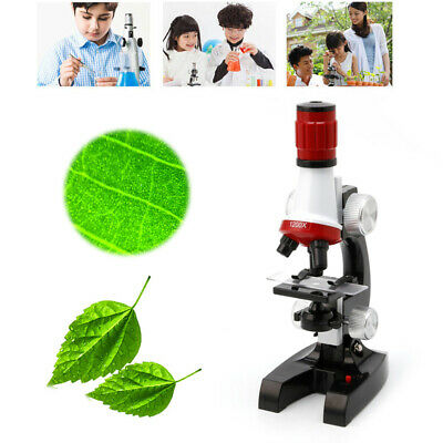 Microscope Kit Lab 100X-1200X Home School Educational Toy Gift For Kid Childs