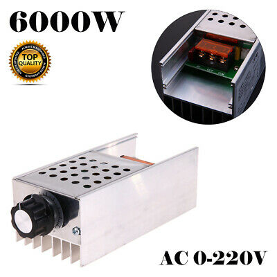 UK 6000W 220V AC SCR Motor Speed Controller Module Voltage Regulator Dimmer