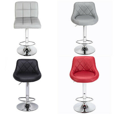 2 PU Leather Swivel Bar Stools Set Kitchen Breakfast Chair Chrome Base Gas Lift