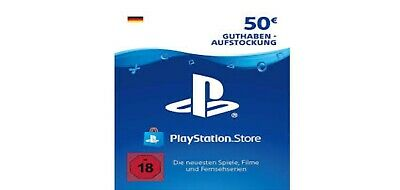 Sony Playstation Network Card 50EUR Euro PSN PS4 Guthaben Download Code Only DE