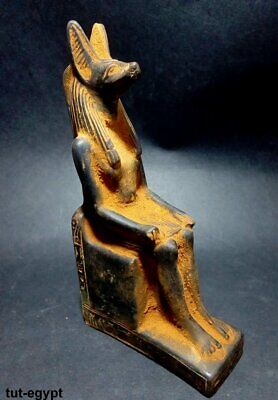 RARE ANCIENT EGYPTIAN ANTIQUE ANUBIS Statue Stone Antique 1278-1131 BC