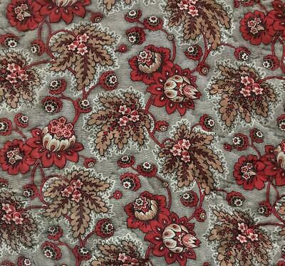 BEAUTIFUL MID 19th CENTURY FRENCH QUILTED COTTON MADDER INDIENNE c1840s 411