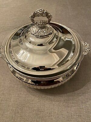 Antique Wiliam A Rogers Silver Caserole Serving Dish