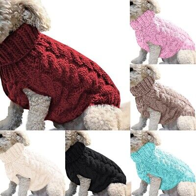 Small Dog Knitted Jacket Sweater Pet Puppy Cat Coat Clothes Warm Apparel Costume