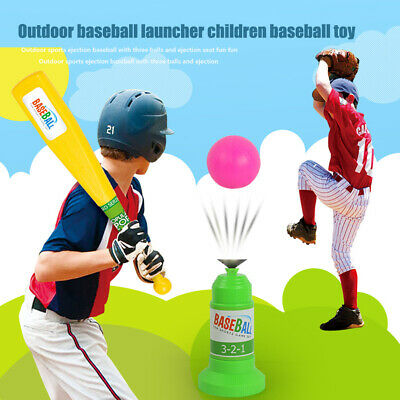 Training Automatic Launcher Kids Outdoor Sports Game Baseball Toy Set Fitness