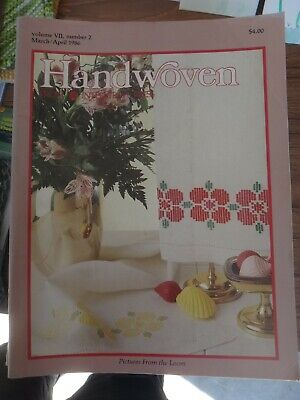 March April 1986 Handwoven Weaving Magazine Pick-up Boundweave Doubleweave Inlay