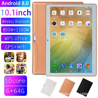 10.1 Inch Tablet Android 8.0 Bluetooth WiFi 3G PC 6+64G 2 SIM GPS Double Camera