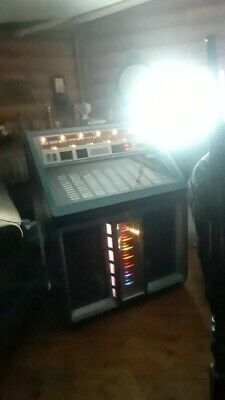 Rowe AMI Jukebox 200 R-90 45 RPM works great its blue mancave material