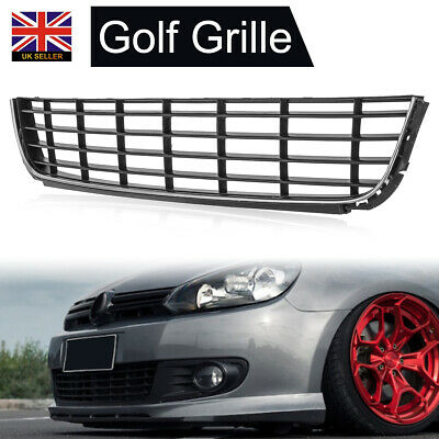 VW Golf MK6 2009-2012 Front Bumper Grille Grill Black Lower Centre Stock New