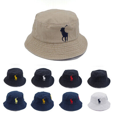 Unisex Men Embroidery Bucket Hat 9 Colors Big Pony Polo Number 3 Casual Cap