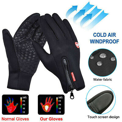Men Women Winter Warm Windproof Waterproof Thermal Touch Screen Gloves Mittens Y