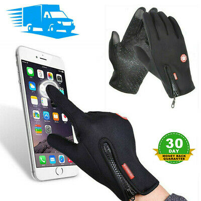 Men Women Winter Warm Gloves Windproof Waterproof Thermal Touch Screen Mittens @