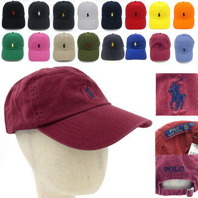 Polo Cap Men Classic Embroidered Cotton Horse Soccer Tenis Baseball Sport Hat