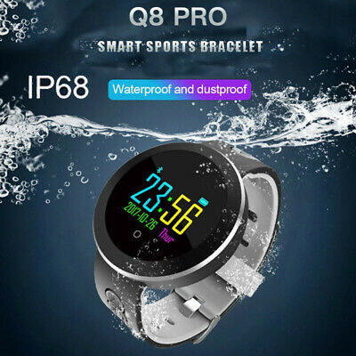Waterproof Smart Watch Fitness Tracker Heart Rate Blood Pressure Tempered Mirror